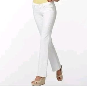 Lilly Pulitzer Main Line Fit White Denim Jeans